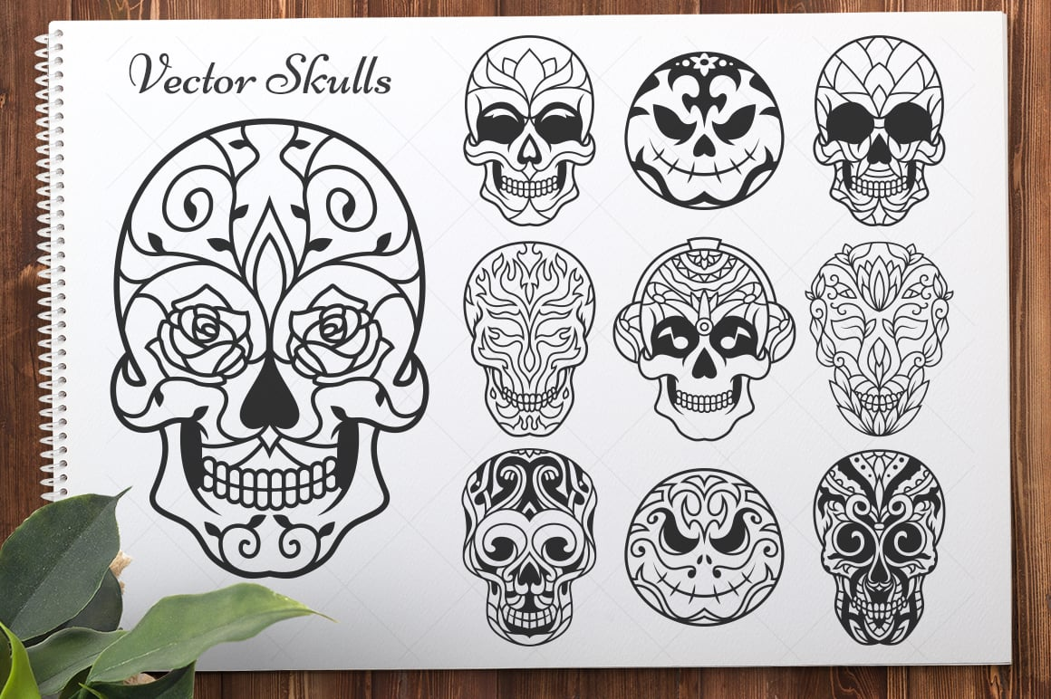 50 Vector Sugar Skulls