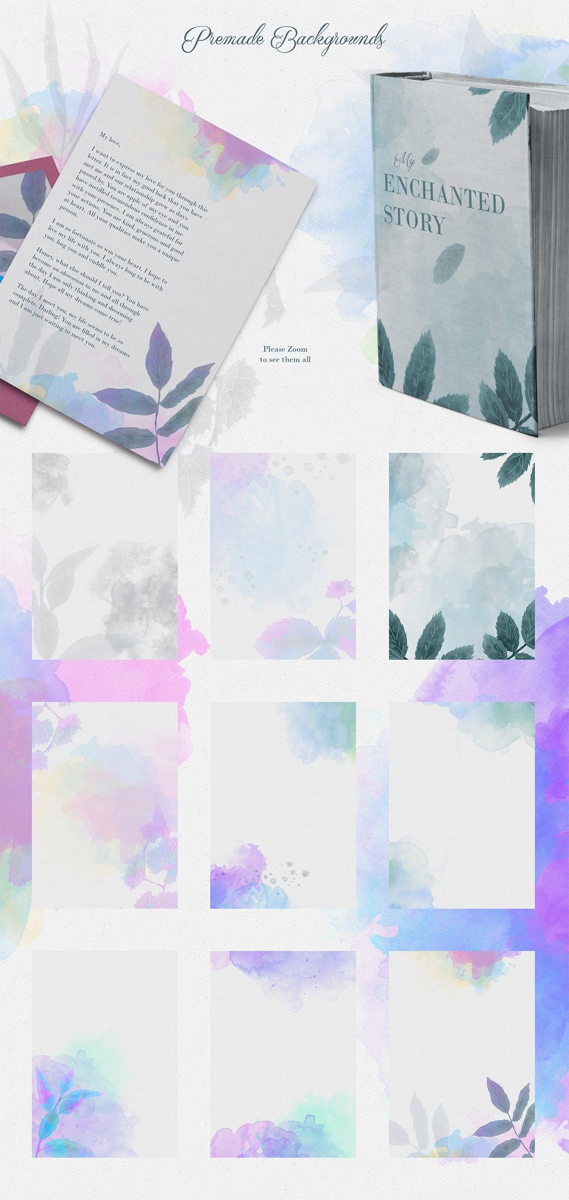 Enchanted Wild Graphic Set - 100 Elements