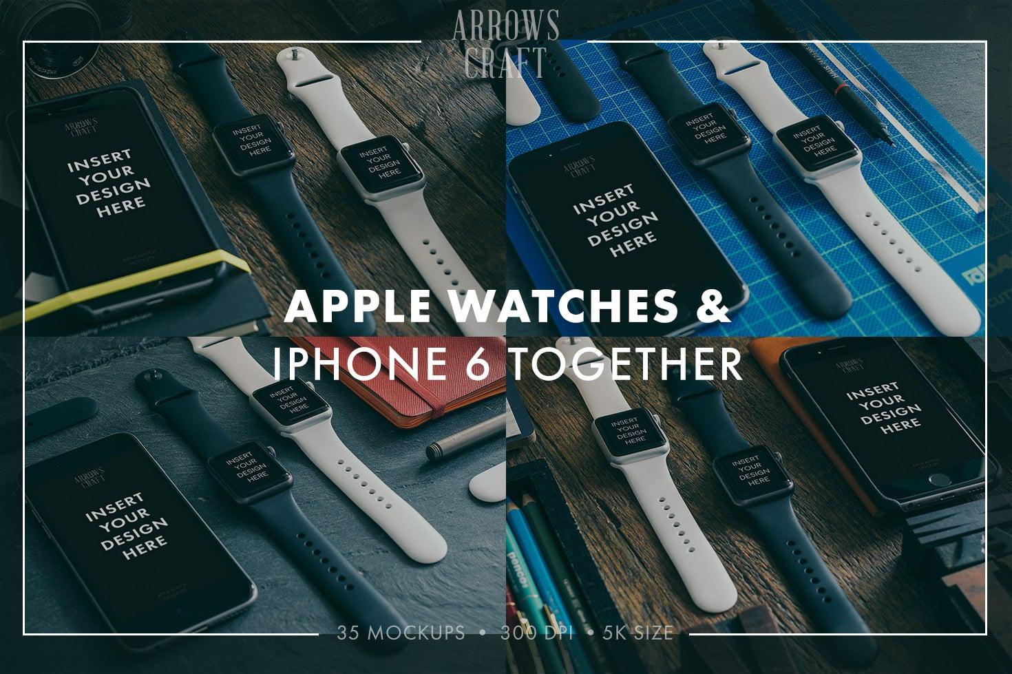 35 Amazing Hip & Stylish Apple Watch Mockups PSD 2020 - Arrows Craft page03