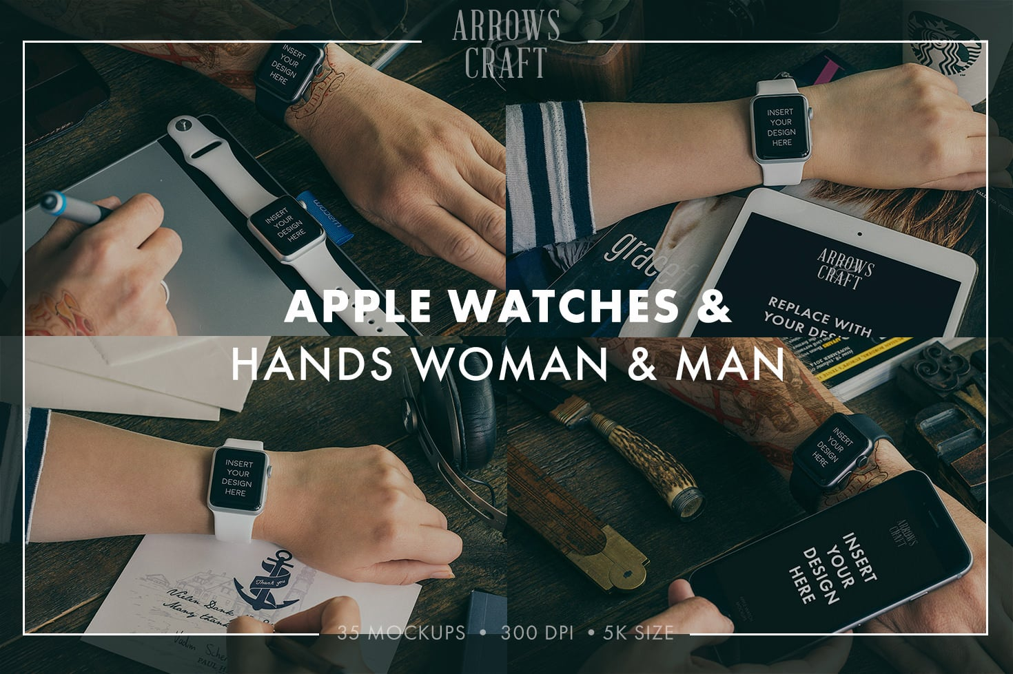 35 Amazing Hip & Stylish Apple Watch Mockups PSD 2020 - Arrows Craft page04