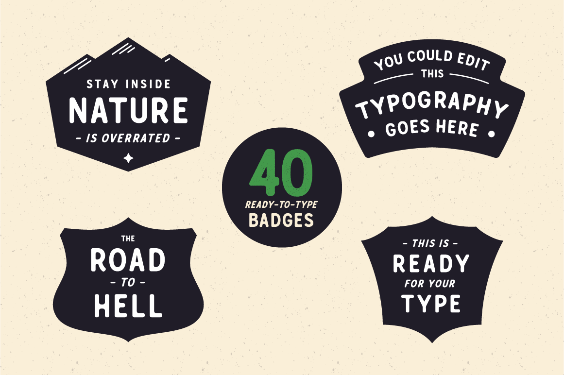 Crazy Font Bundle: the Crafters Toolbox by Great Scott - Crafters toolbox Badges selection