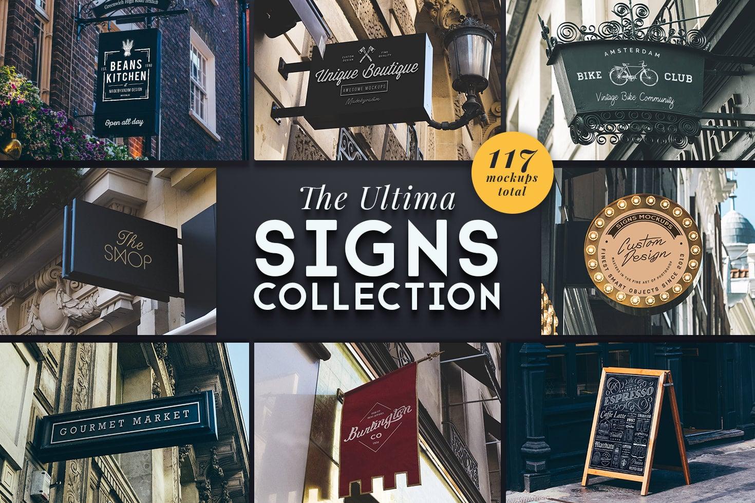 117 Signs Mockups