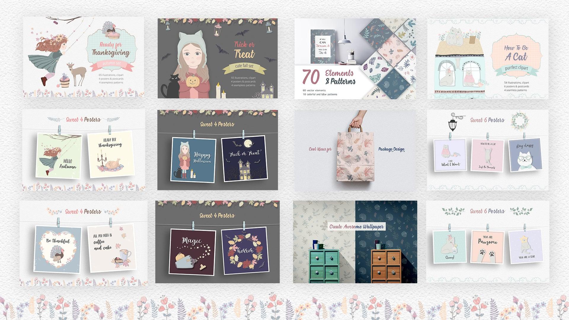 70+ Best Fall & Autumn Clip Art Collection in 2020 - autumn bundle 3