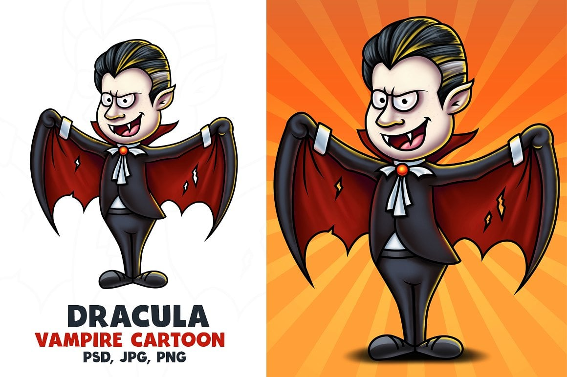 Vampire Cartoon Character