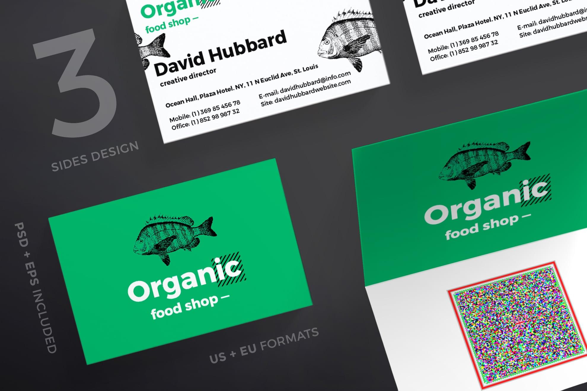 110 in 1 Business Card Bundle - 001 bc organic food shop 12 0