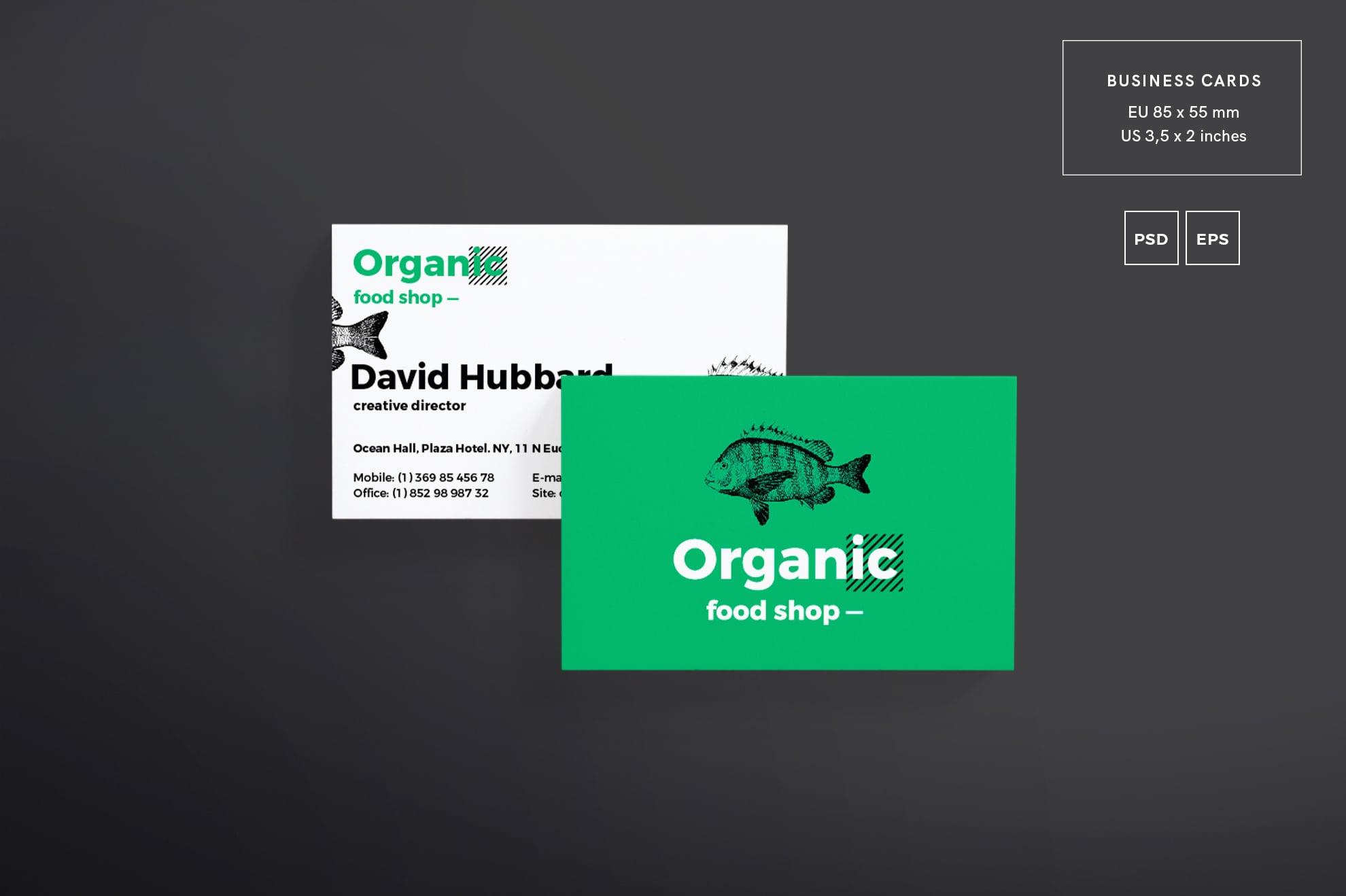 110 in 1 Business Card Bundle - 001 bc organic food shop 12 1