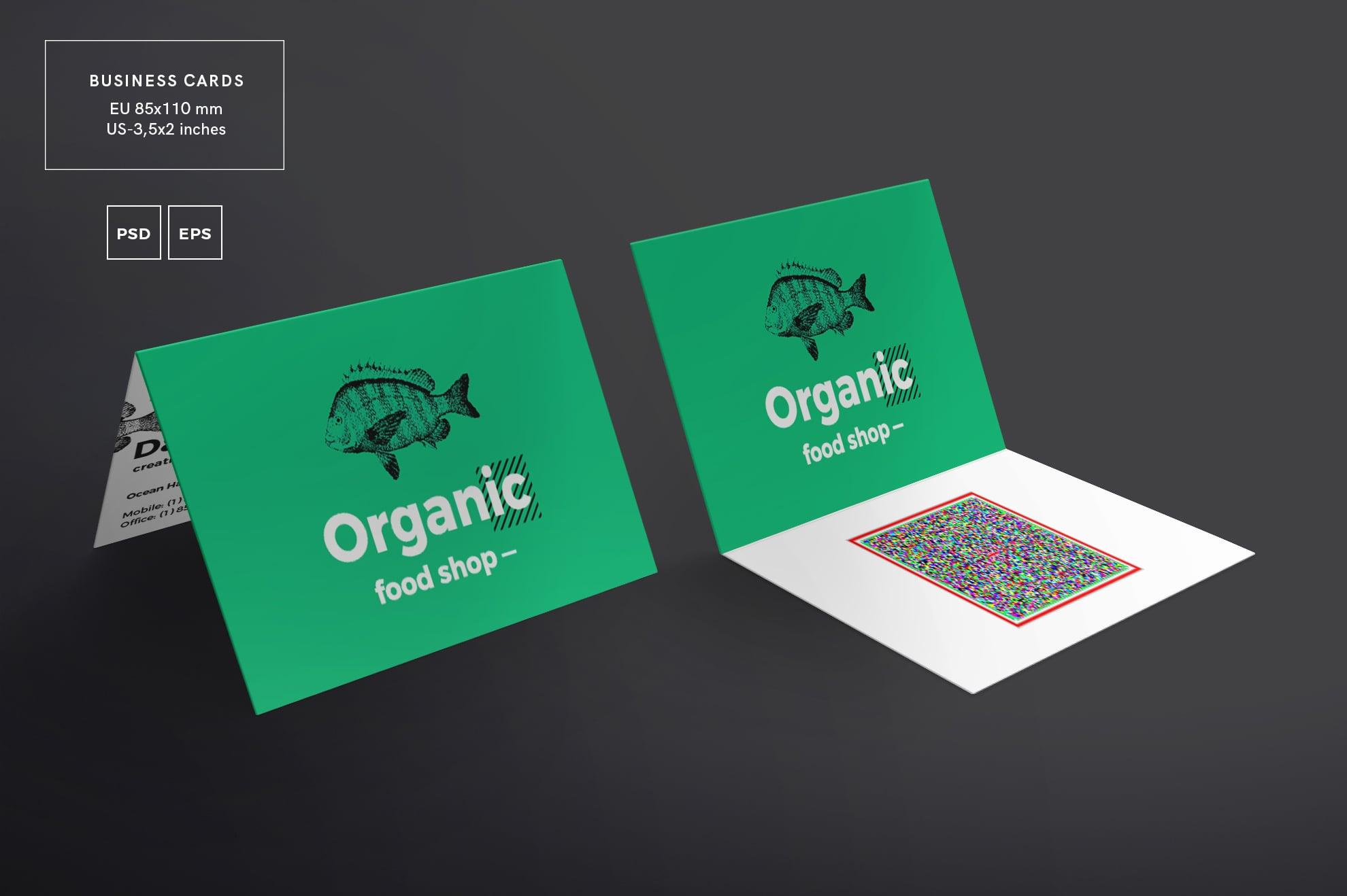 110 in 1 Business Card Bundle - 001 bc organic food shop 12 2