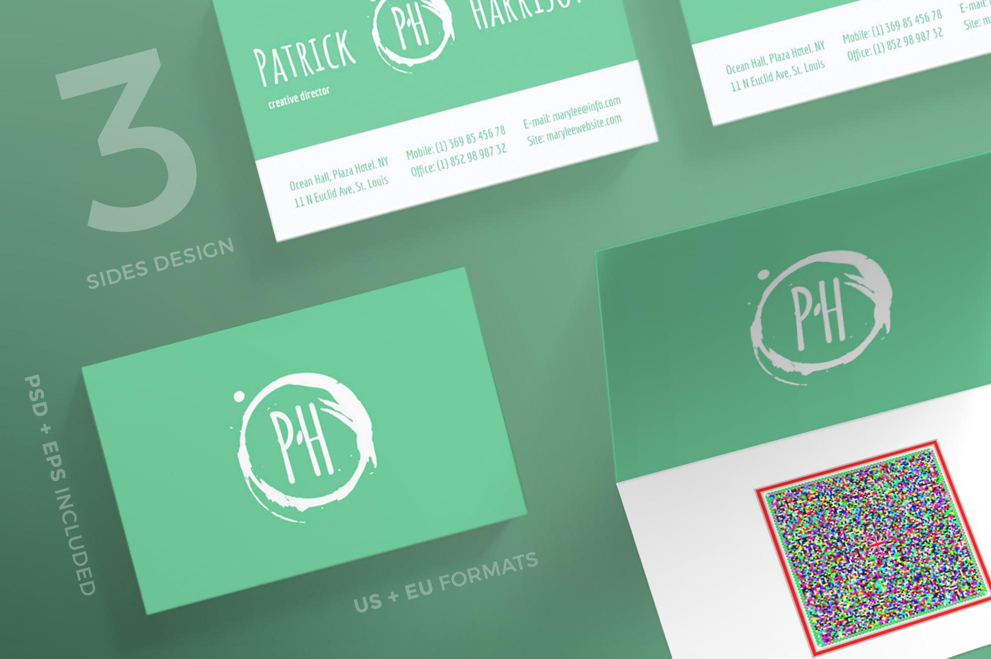 110 in 1 Business Card Bundle - 004 bc patrick harrison 13 0