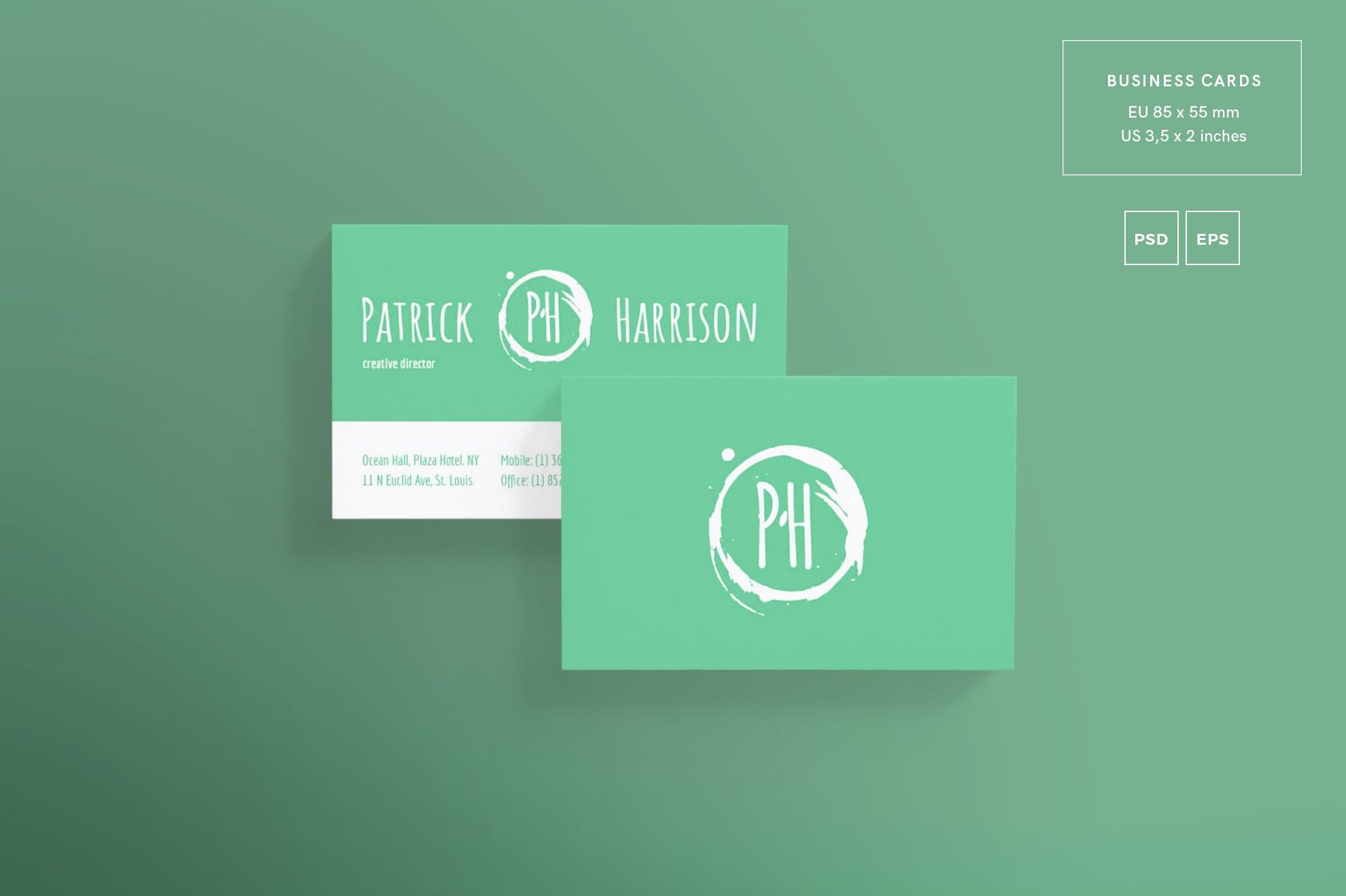110 in 1 Business Card Bundle - 004 bc patrick harrison 13 1