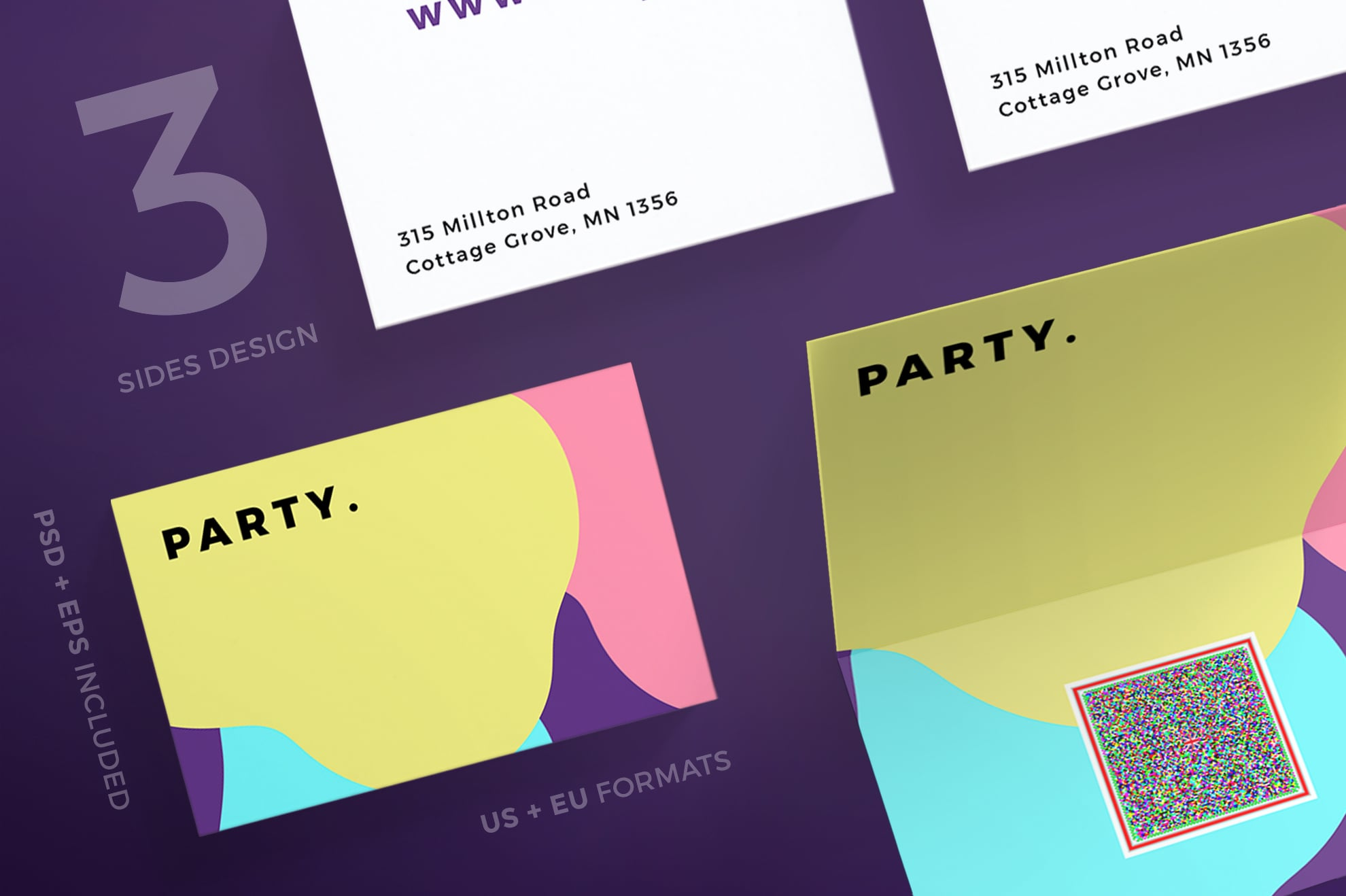 110 in 1 Business Card Bundle - 007 bc party color 14 0