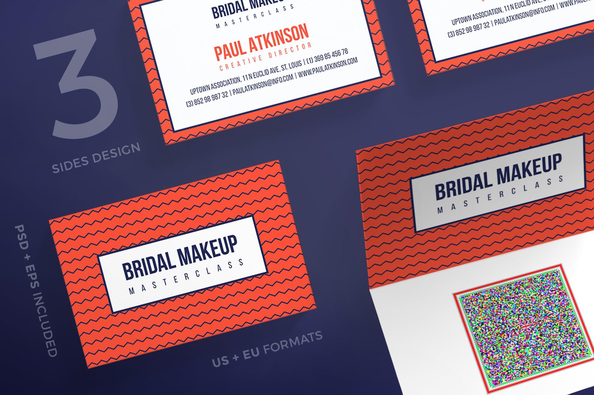 110 in 1 Business Card Bundle - 009 bc bridal makeup 15 0