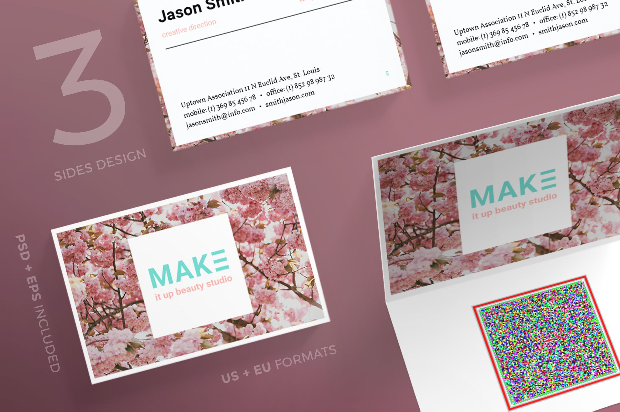 110 in 1 Business Card Bundle - 015 bc make it up beauty 35 0