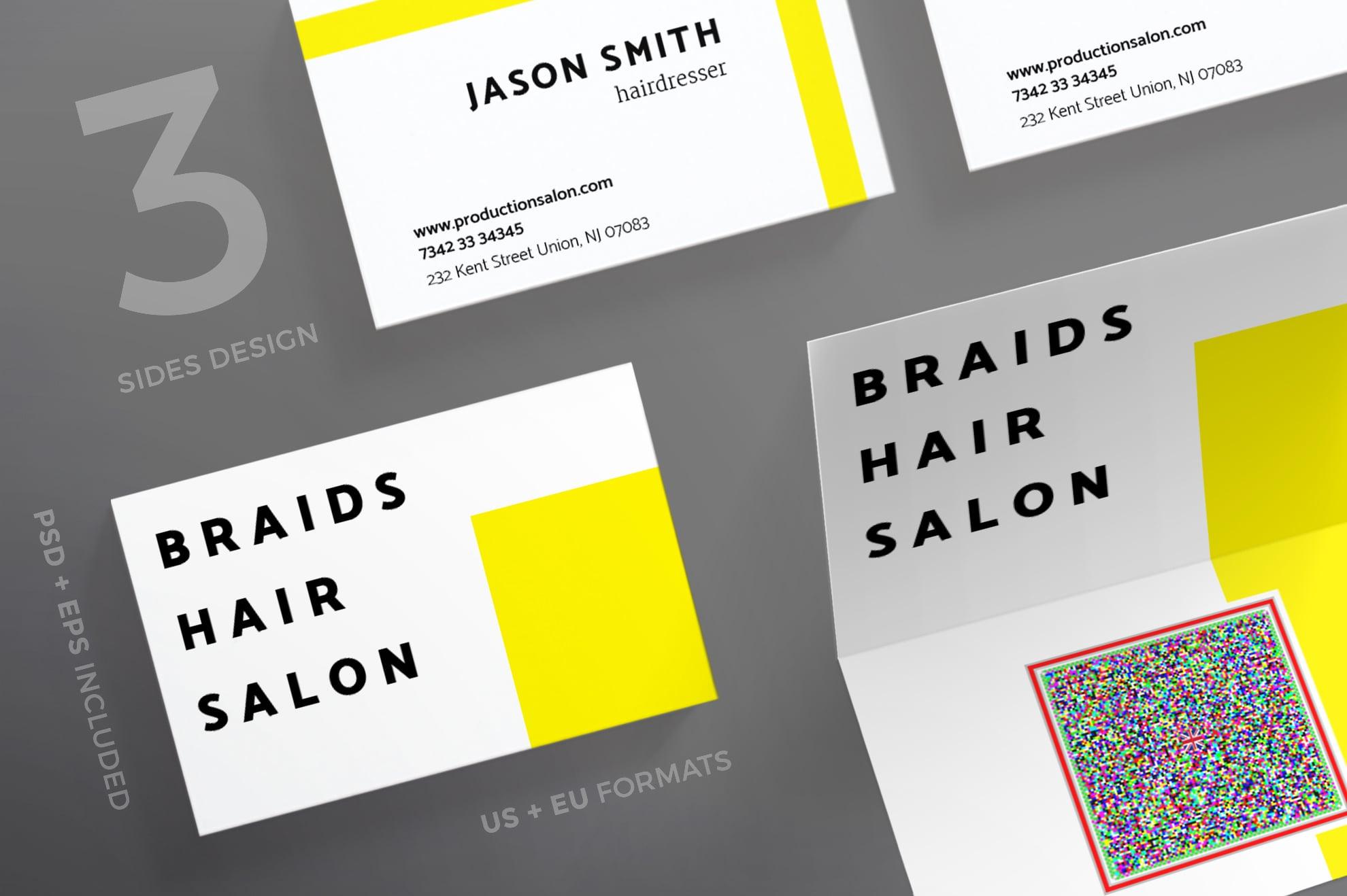 110 in 1 Business Card Bundle - 020 bc braids hair salon 44 0