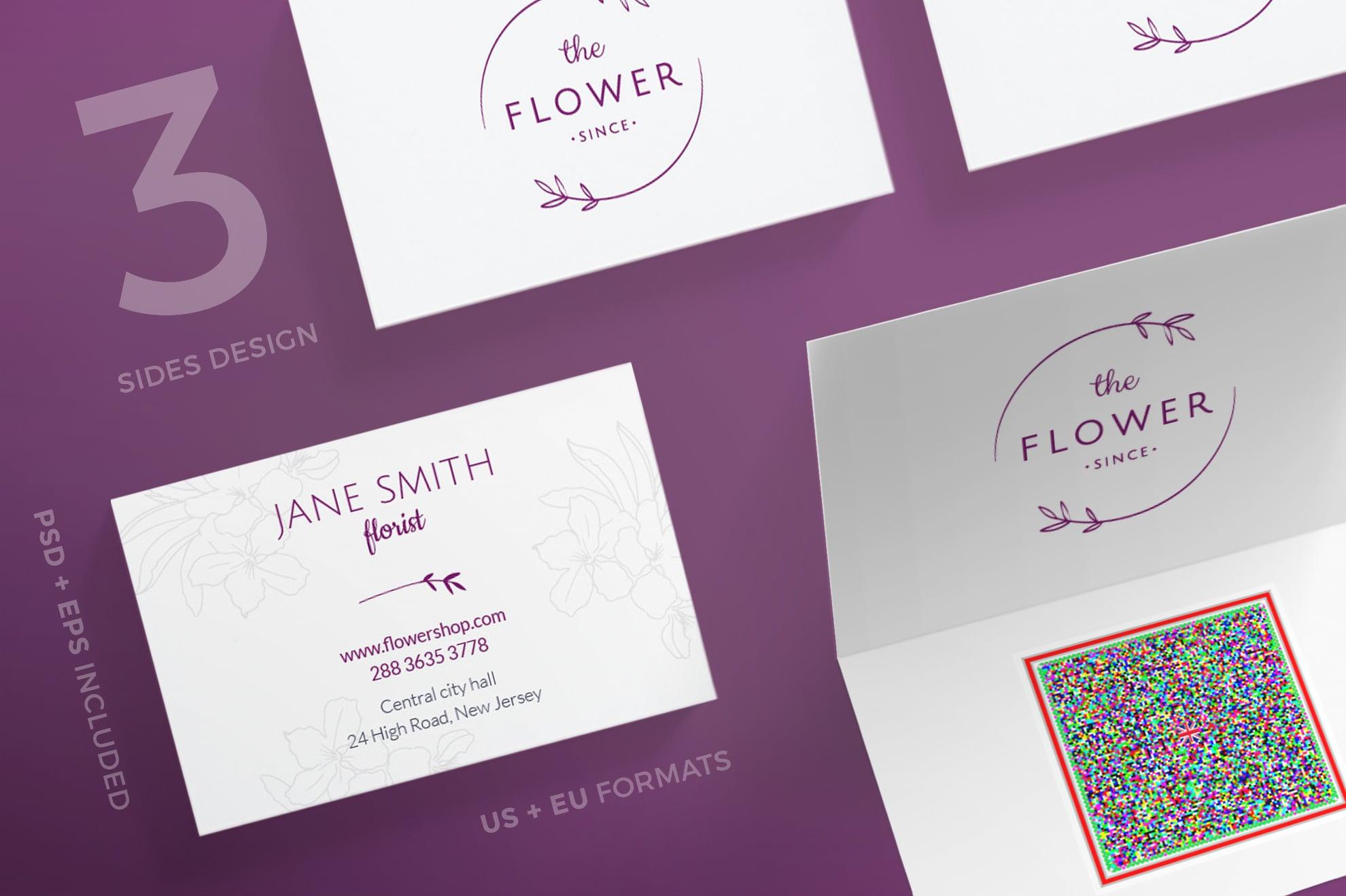 110 in 1 Business Card Bundle - 025 bc flower shop 49 0
