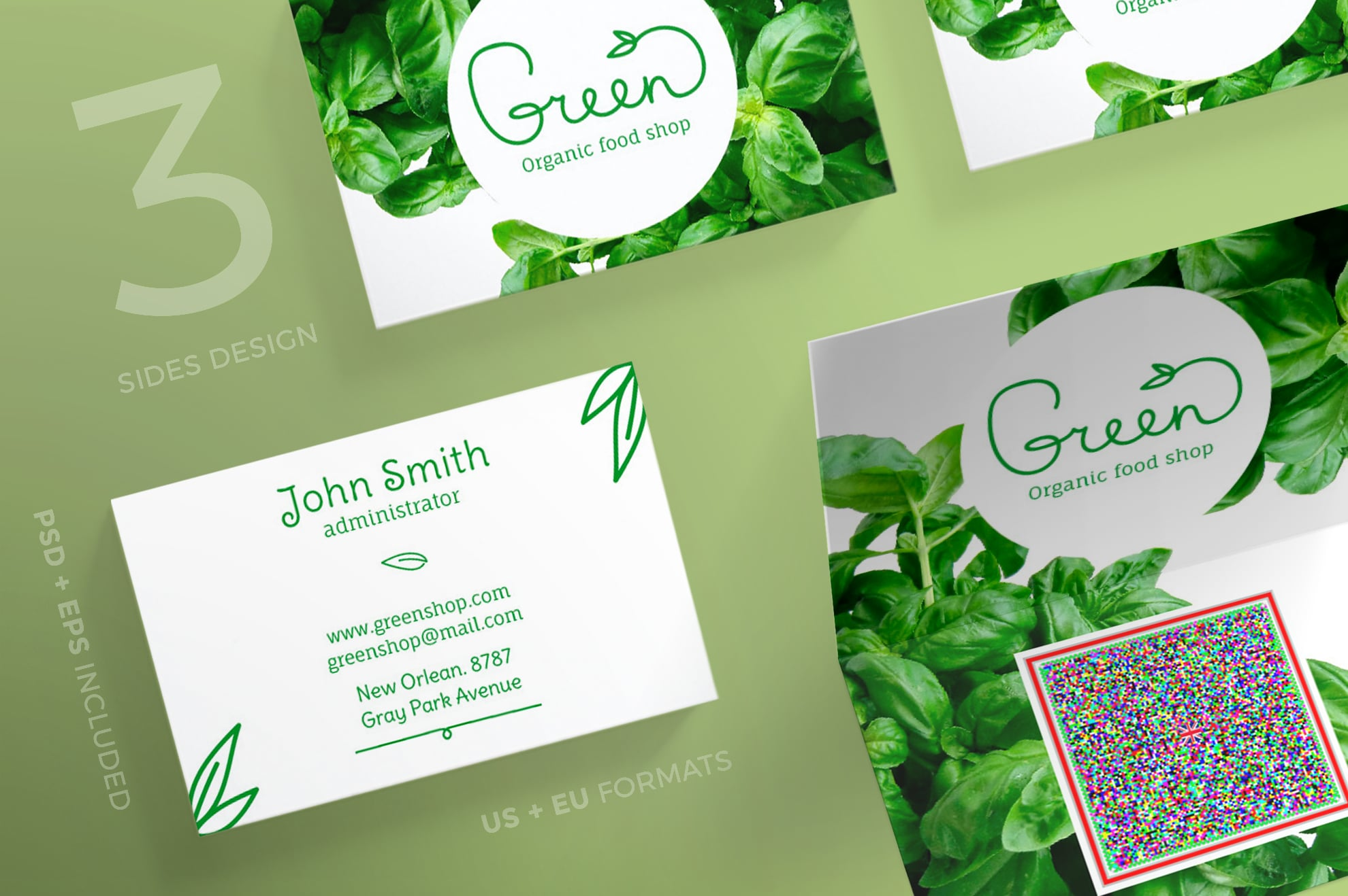 110 in 1 Business Card Bundle - 026 bc green shop 50 0