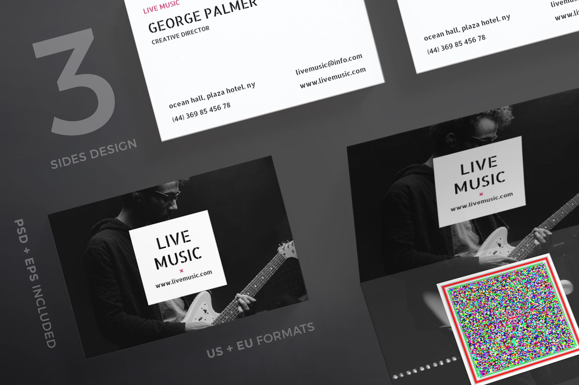110 in 1 Business Card Bundle - 038 bc live music 63 0