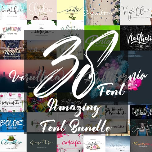 Neat Handwriting Fonts - 38 Amazing Fonts Bundle - 1