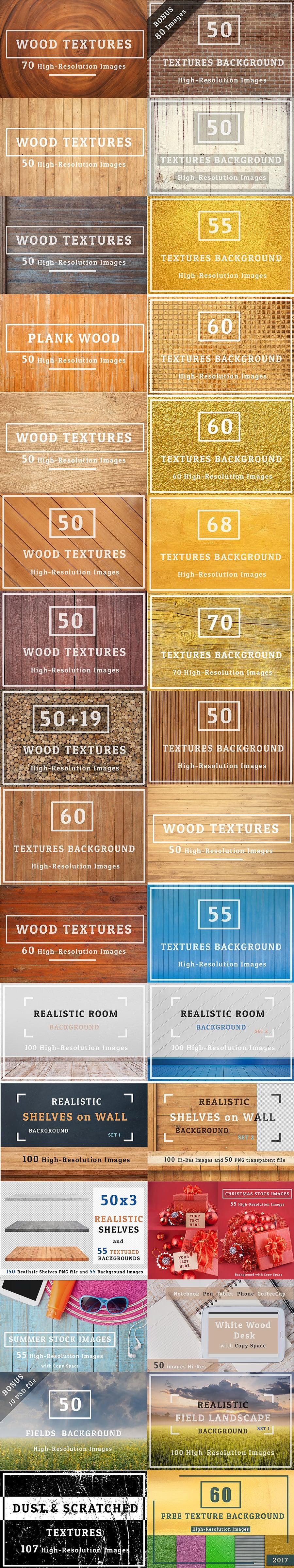 2000+ Textures Background Bundle