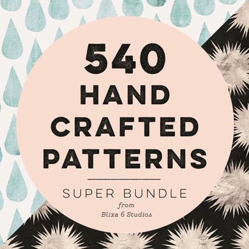 540 Geometric Patterns Super Bundle from Blixa 6 Studios - 540HandCraftPatterns Blixa6Studios 490x490
