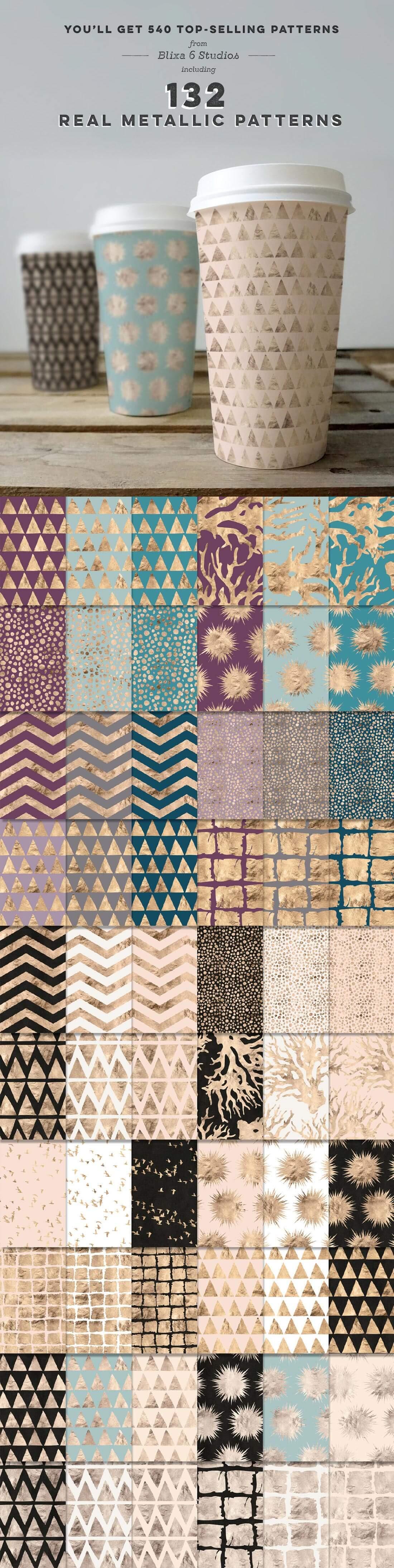 540 Geometric Patterns Super Bundle from Blixa 6 Studios - Blixa6Studios 1