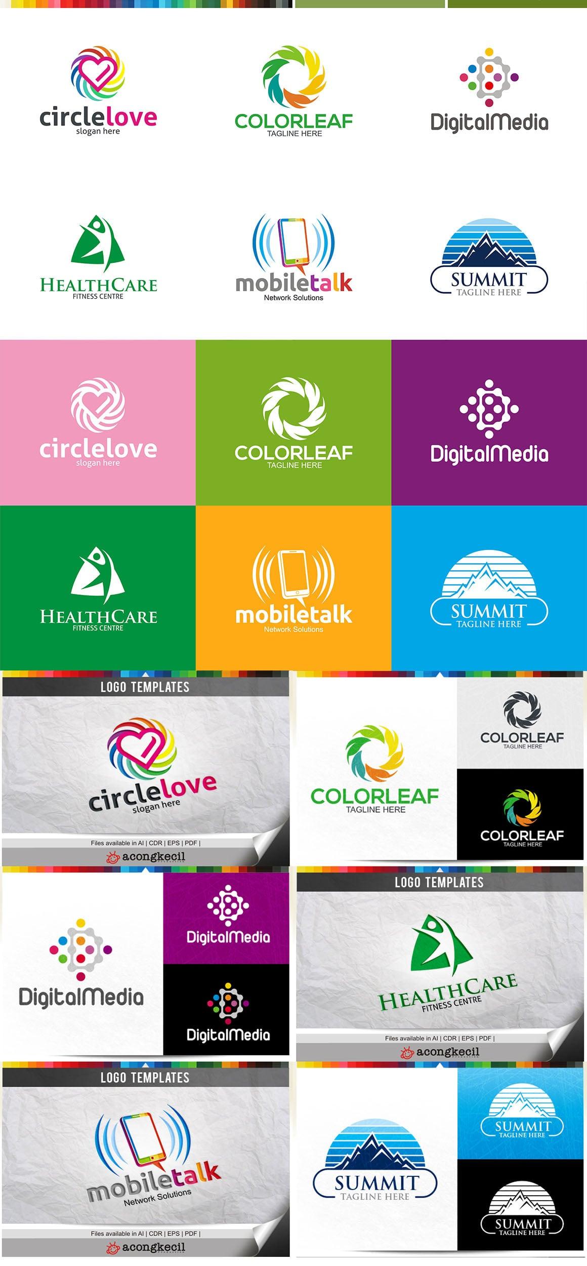 446 Business Logo Bundle - 99%+ OFF - Bundle 01 Preview 5a