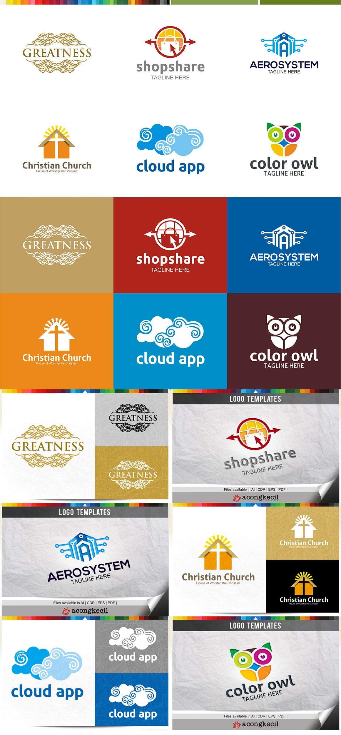 446 Business Logo Bundle - 99%+ OFF - Bundle 02 Preview5a