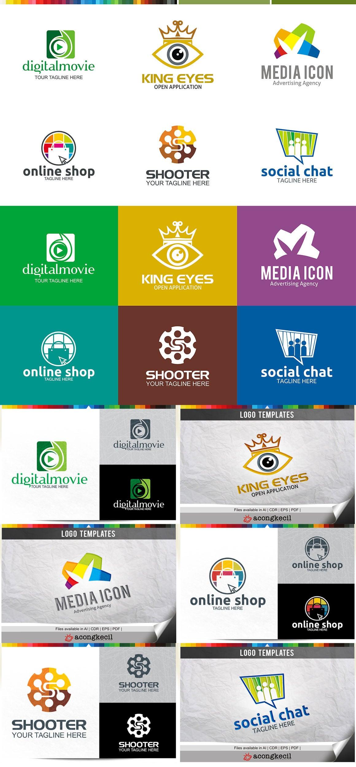 446 Business Logo Bundle - 99%+ OFF - Bundle 04 Preview6A