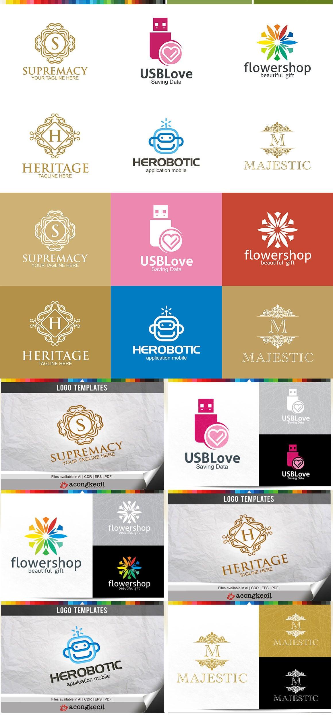446 Business Logo Bundle - 99%+ OFF - Bundle 05 Preview5A