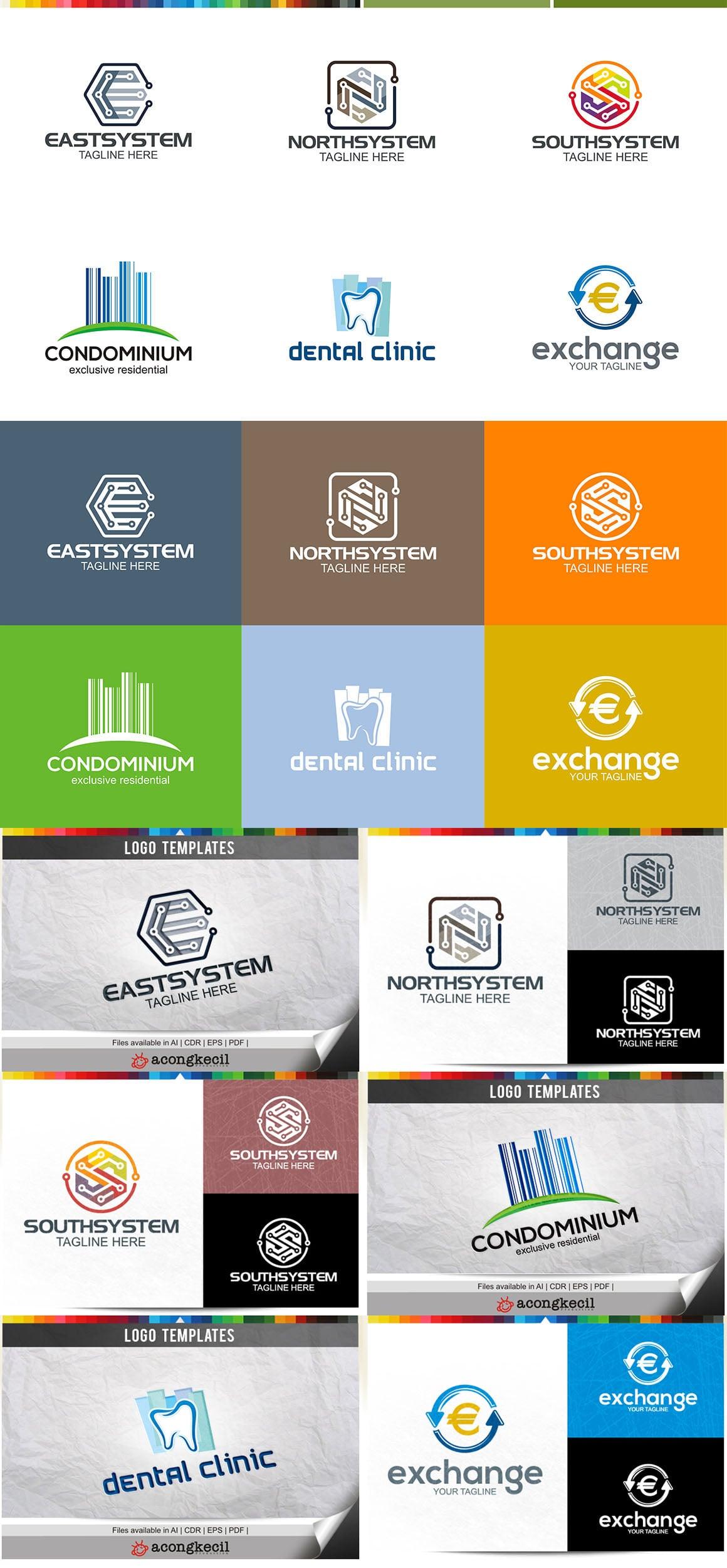 446 Business Logo Bundle - 99%+ OFF - Bundle 07 Preview5A
