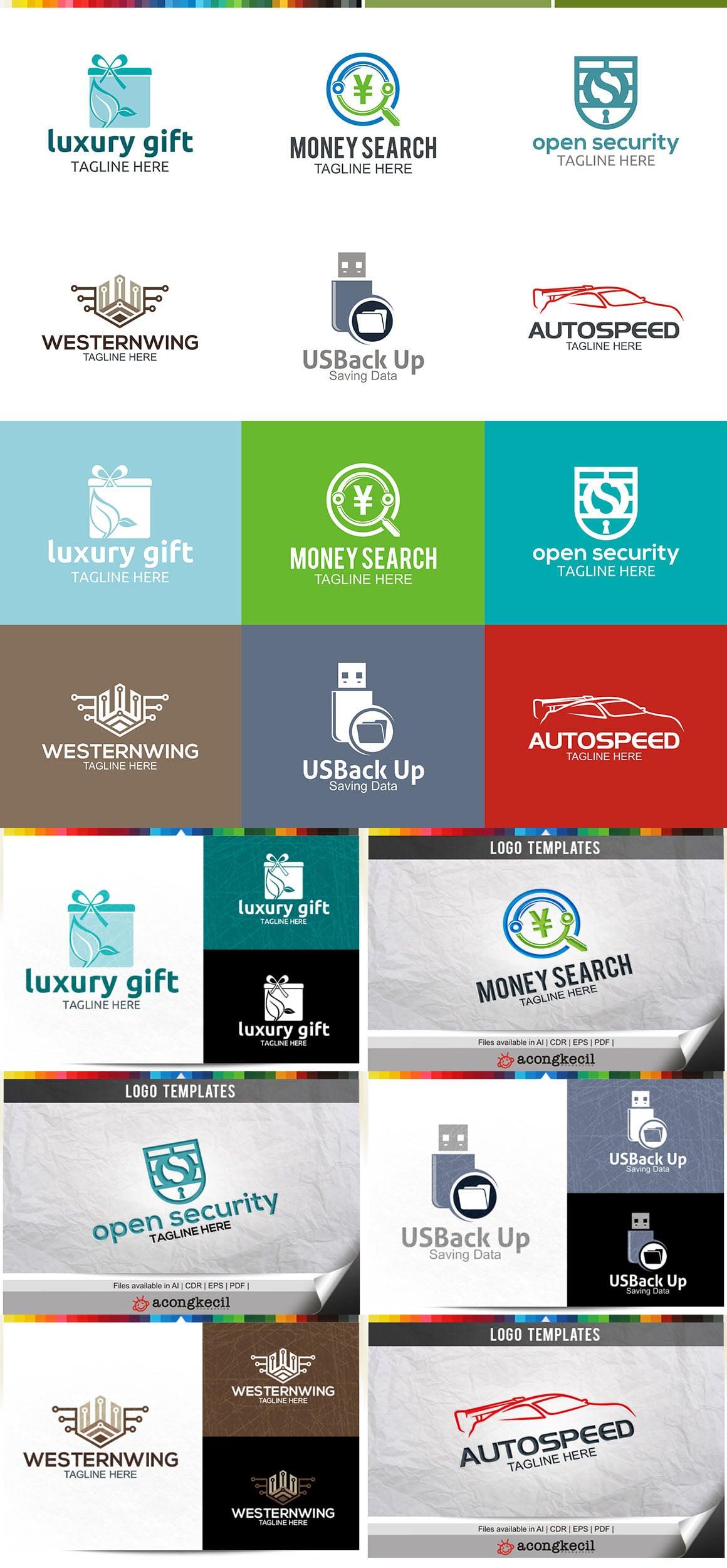446 Business Logo Bundle - 99%+ OFF - Bundle 08 Preview6A