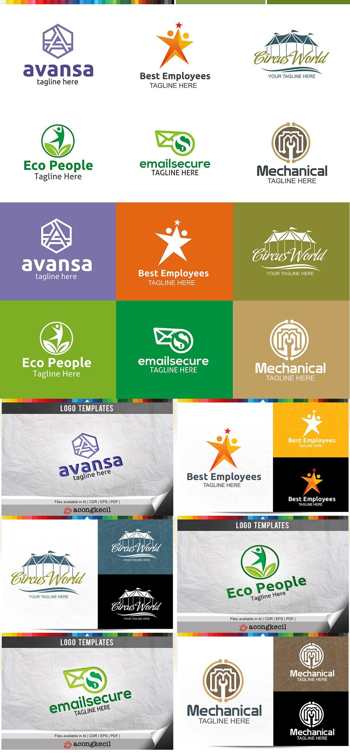 446 Business Logo Bundle - 99%+ OFF - Bundle 09 Preview5A