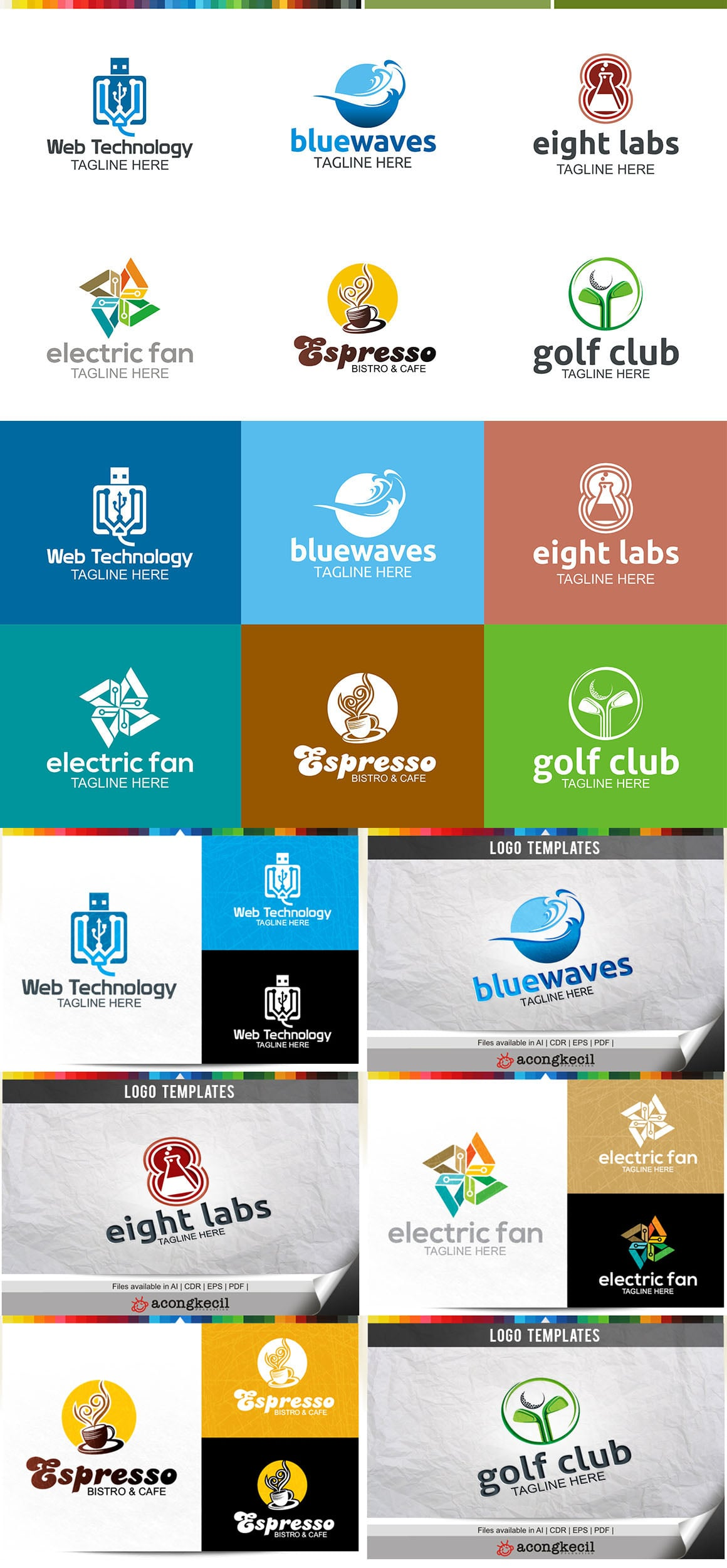 446 Business Logo Bundle - 99%+ OFF - Bundle 10 Preview5A