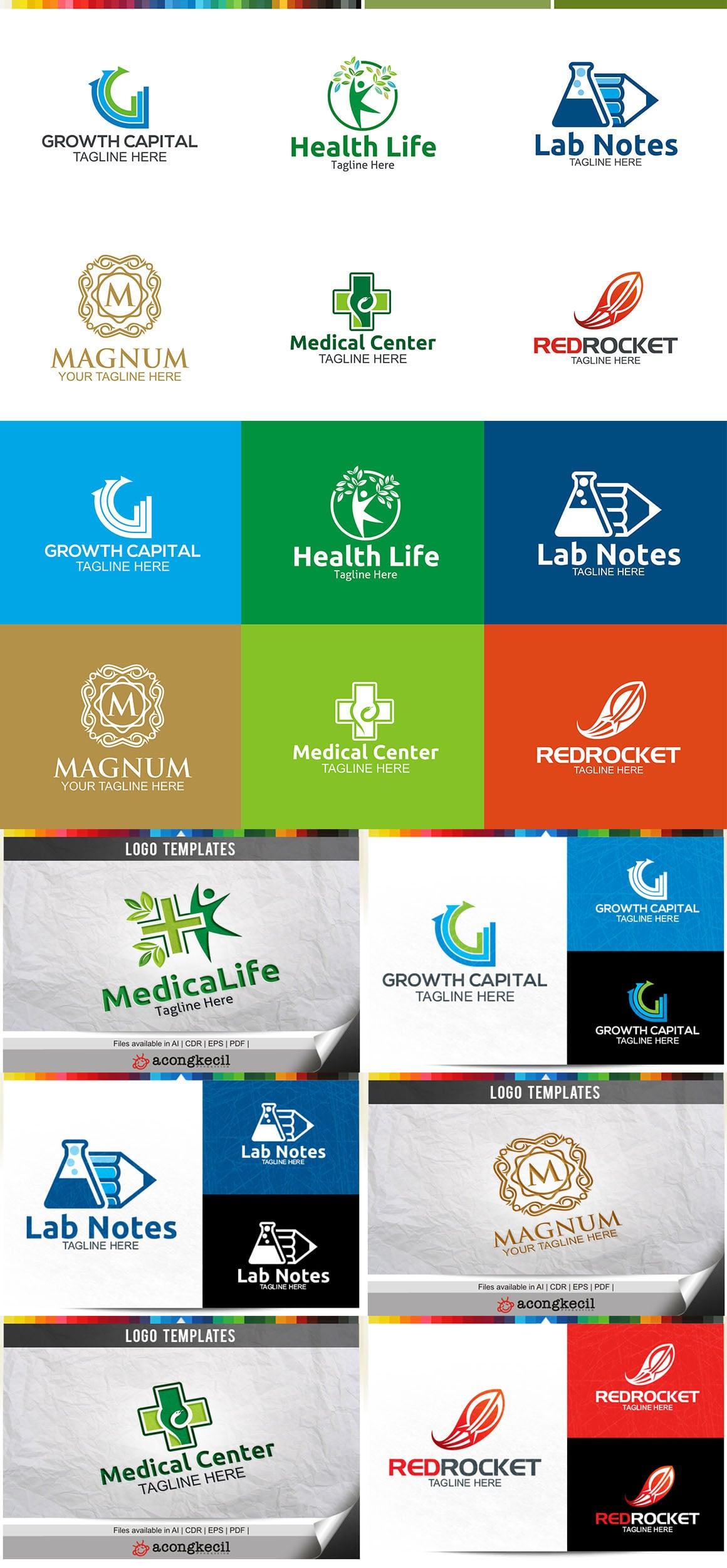 446 Business Logo Bundle - 99%+ OFF - Bundle 11 Preview5A