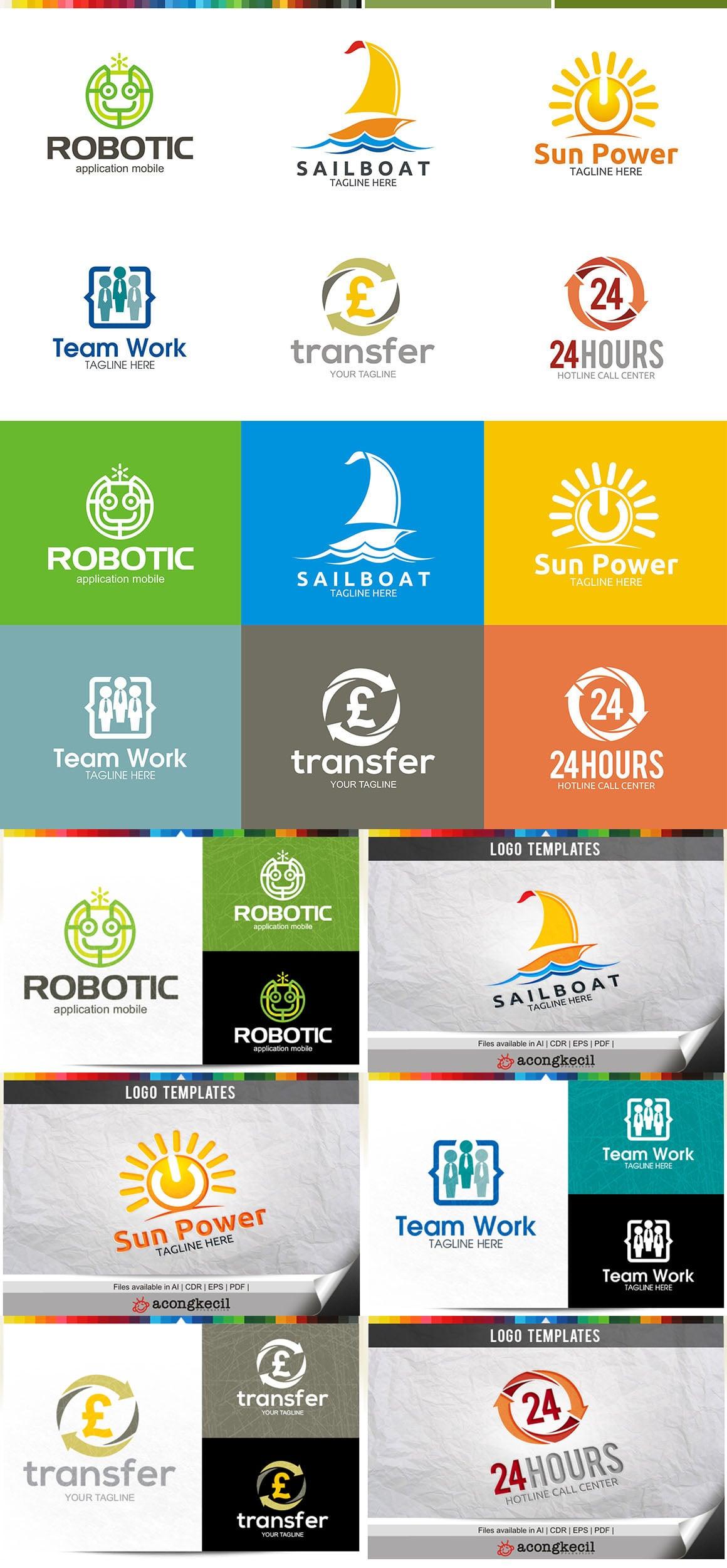 446 Business Logo Bundle - 99%+ OFF - Bundle 12 Preview5A