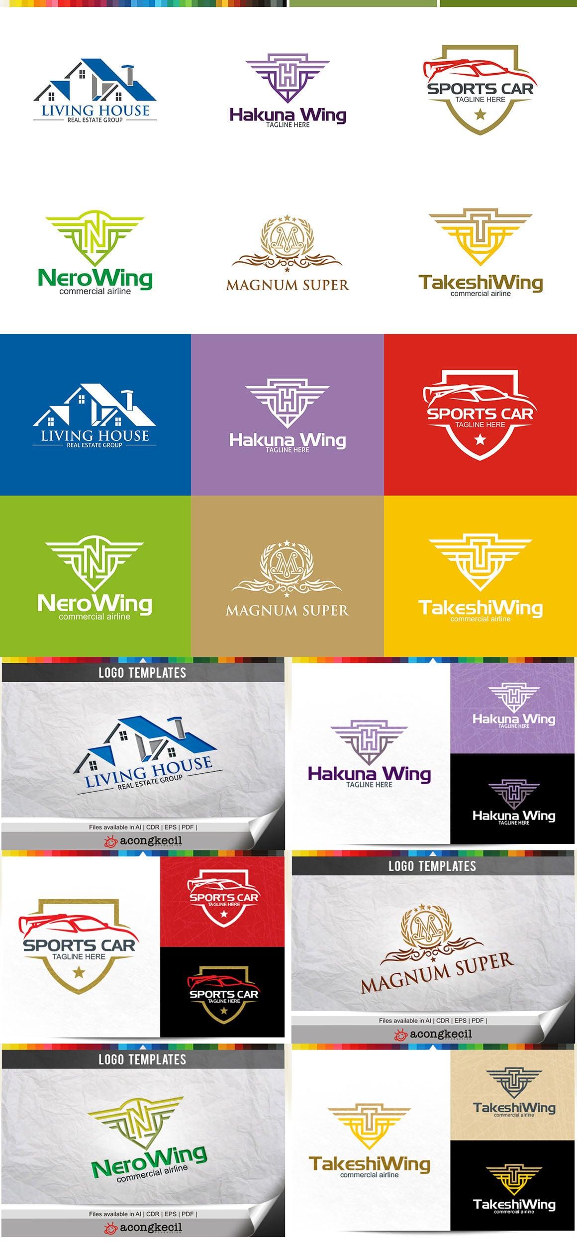 446 Business Logo Bundle - 99%+ OFF - Bundle 13 Preview5A
