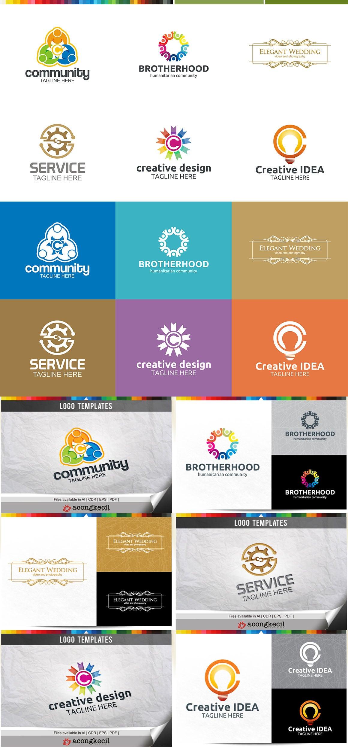 446 Business Logo Bundle - 99%+ OFF - Bundle 15 Preview5A