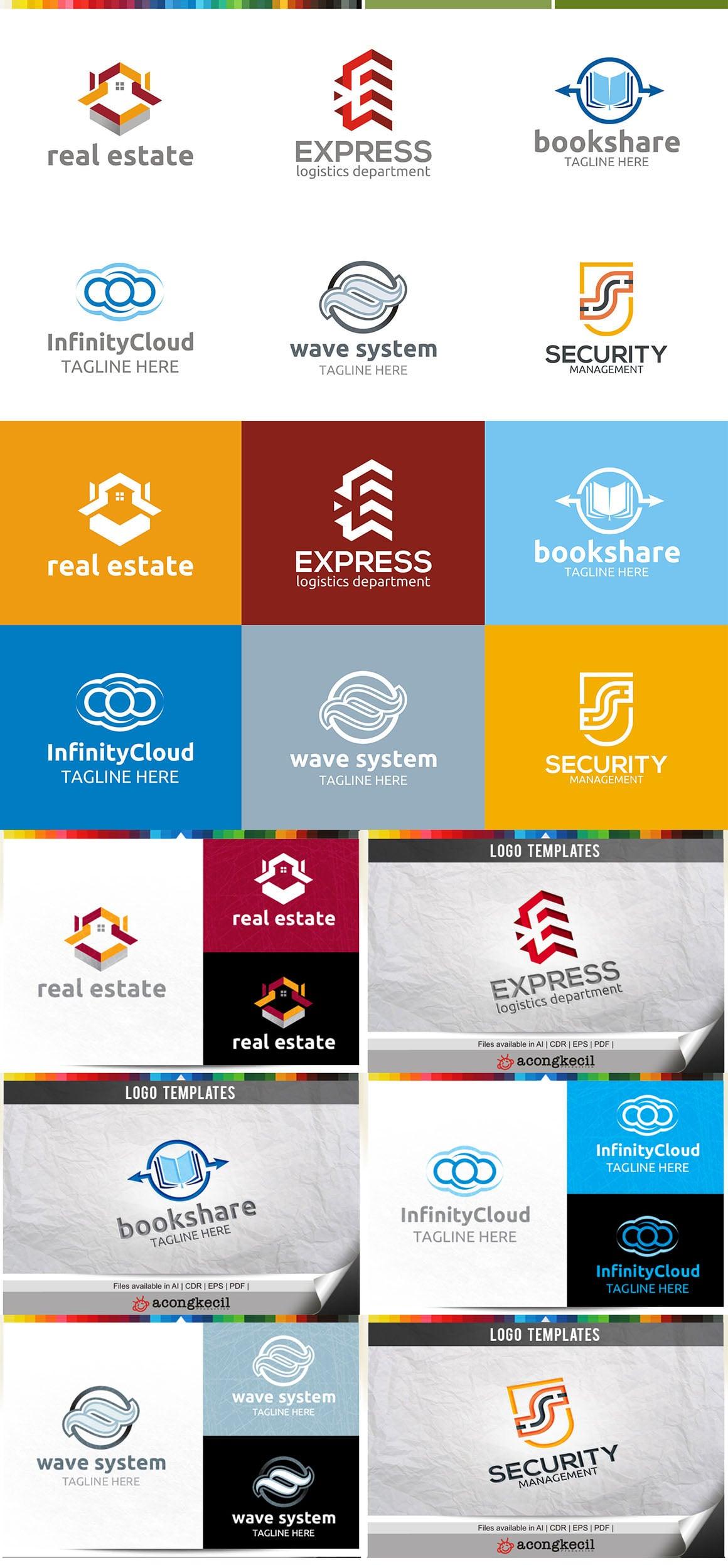 446 Business Logo Bundle - 99%+ OFF - Bundle 16 Preview5A