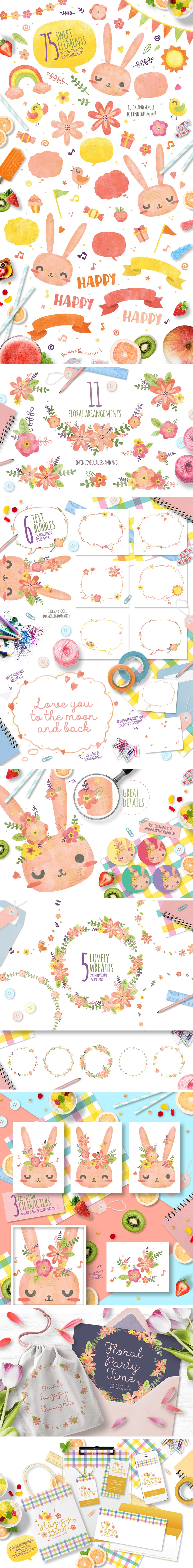 103 Sweet Elements Bundle: Think Happy Thoughts [Easter edition] - Full Image 1