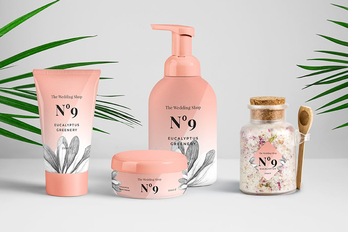 This collection is perfect for organic skincare products.