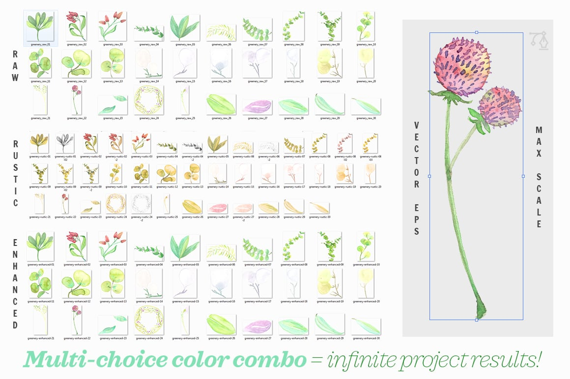 There are many flower and leaf designs that you can use for your designs.