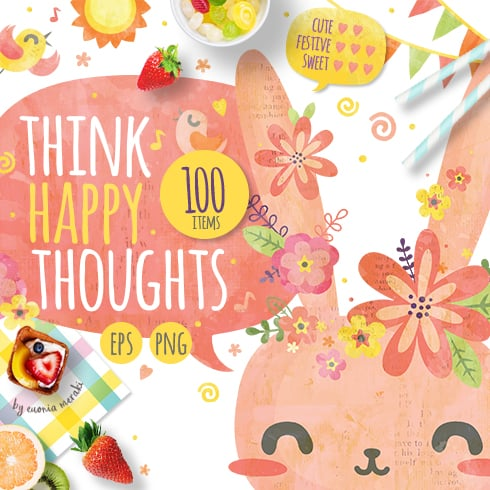 103 Sweet Elements Bundle: Think Happy Thoughts [Easter edition] - Small Image 01 1