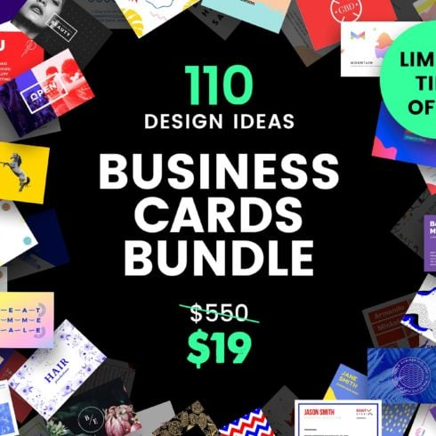 110 in 1 Business Card Bundle - cards promo  490x490