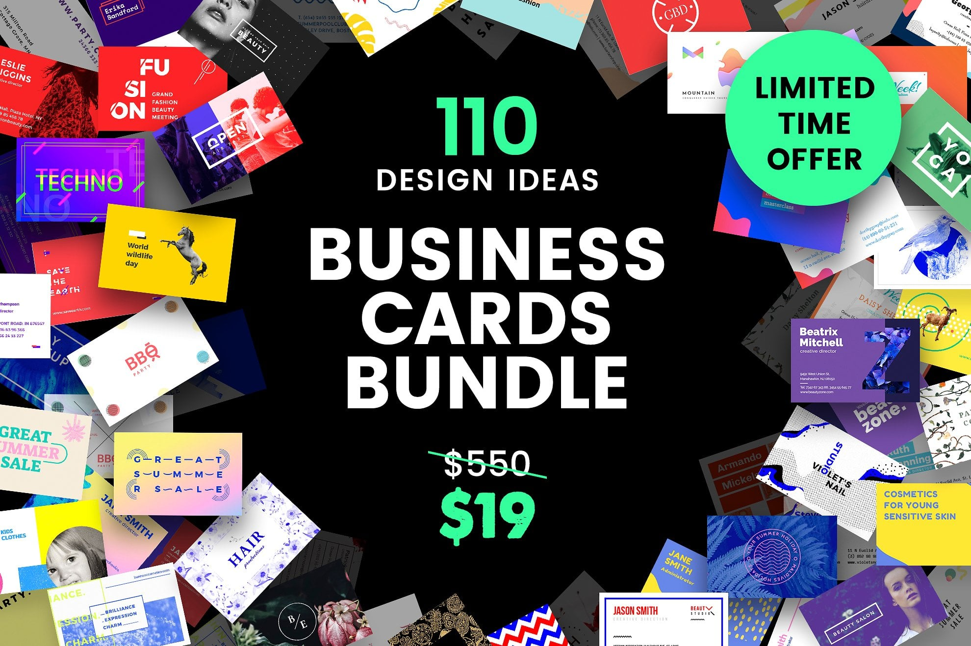 110 in 1 Business Card Bundle