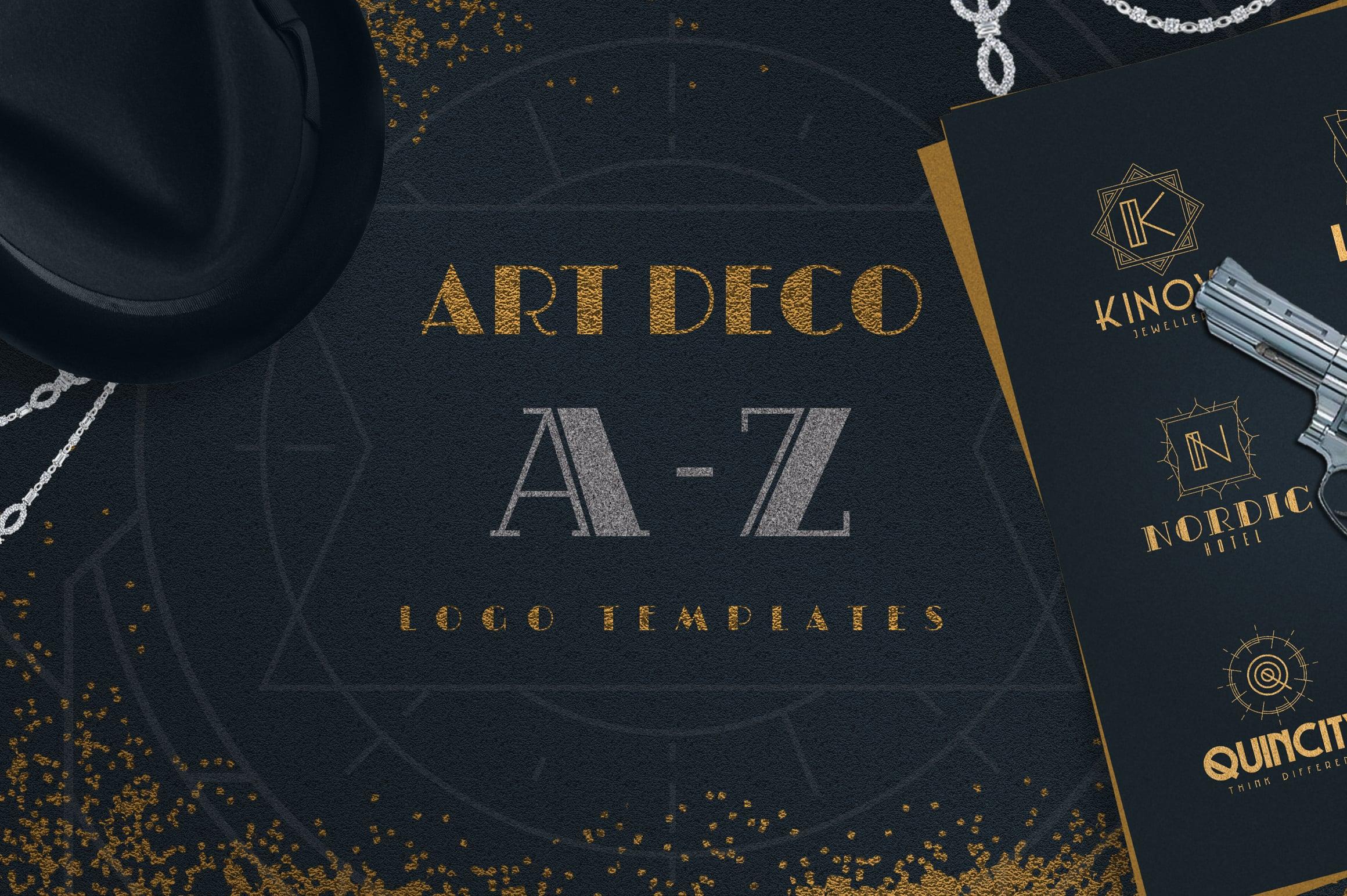 Art Deco A-Z Logo Templates - 1