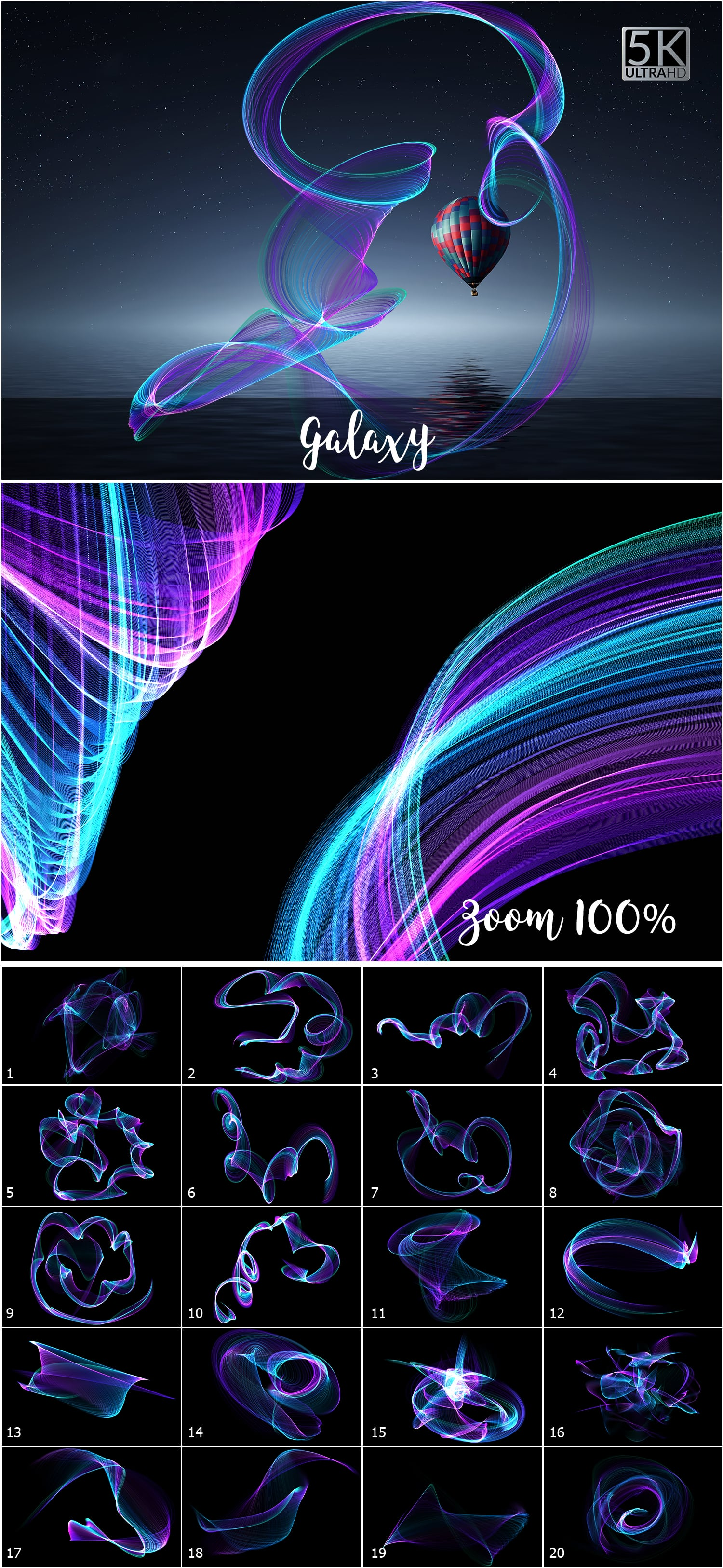 1053 Spectacular Overlays png - Only $18! - 11 Galaxy