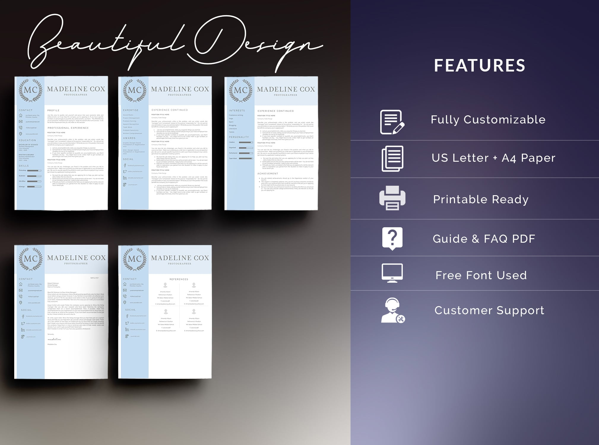 Bundle - Resume Template 5 Pages - $11 - 2