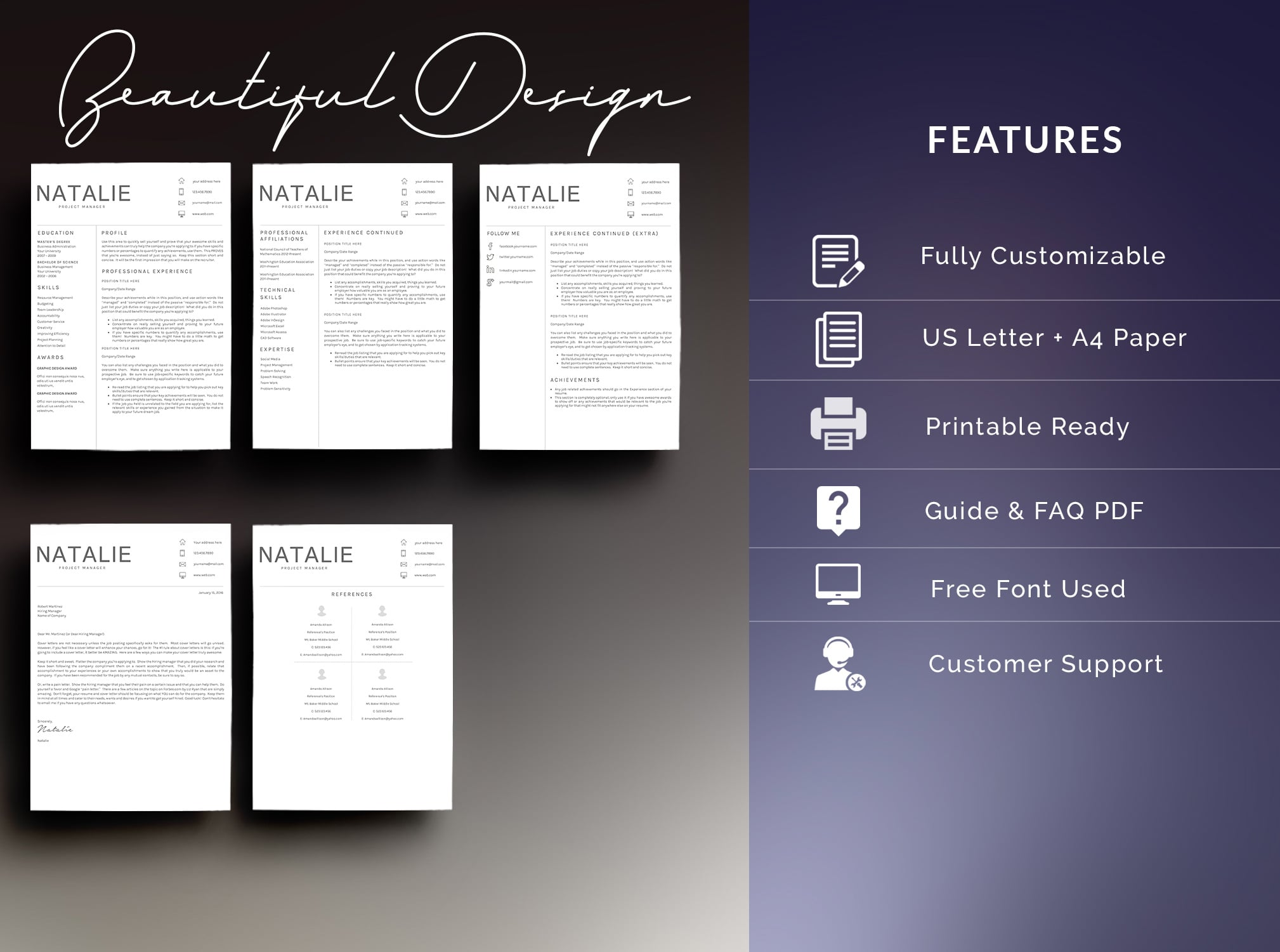 Bundle - Resume Template 5 Pages - $11 - 3 2