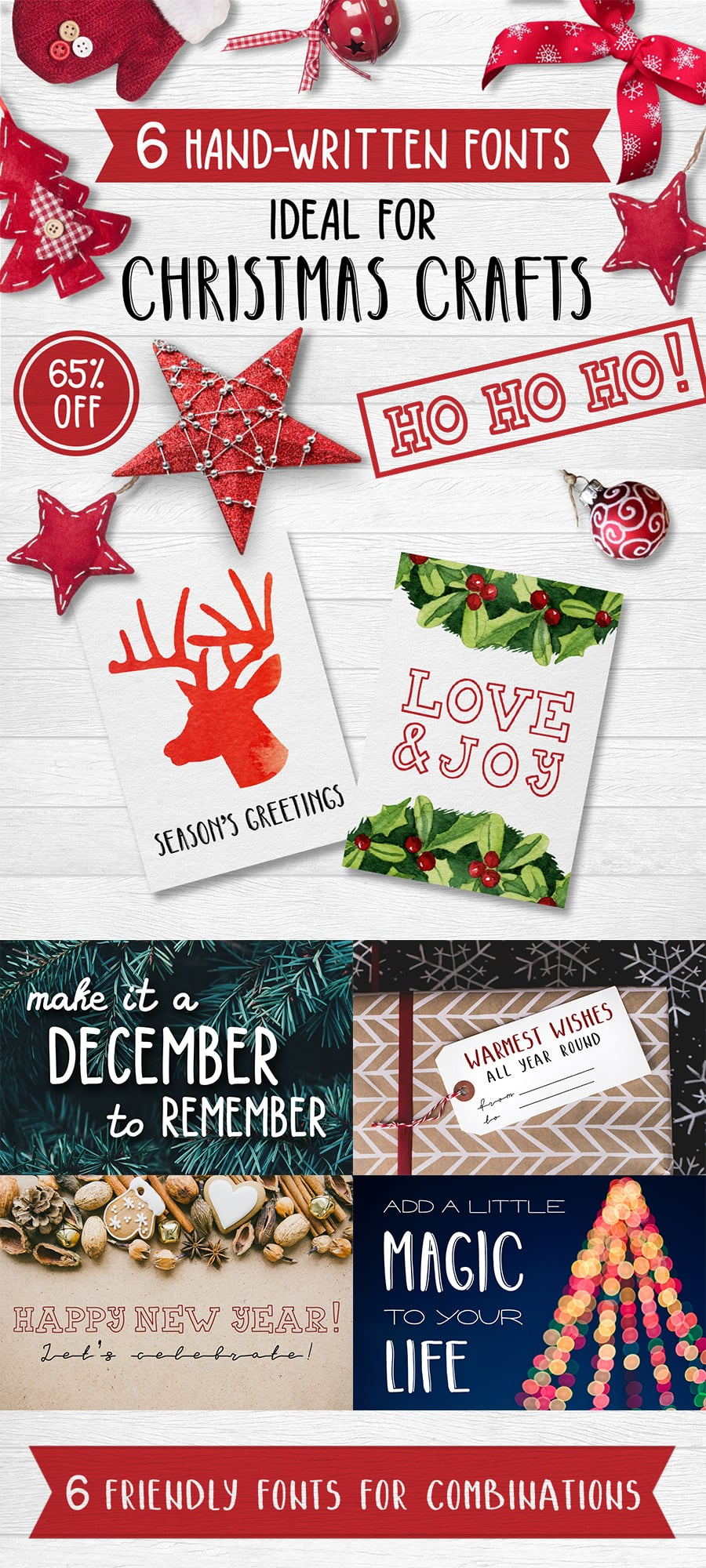 Best Christmas Fonts - Lettering for Christmas Cards - 4 1