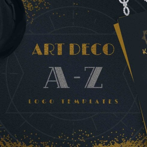 Art Deco A-Z Logo Templates - 490 1 490x490