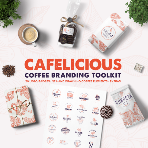 Cafelicious - Coffee Branding Kit + Bonus - Cafelicious 1 preview